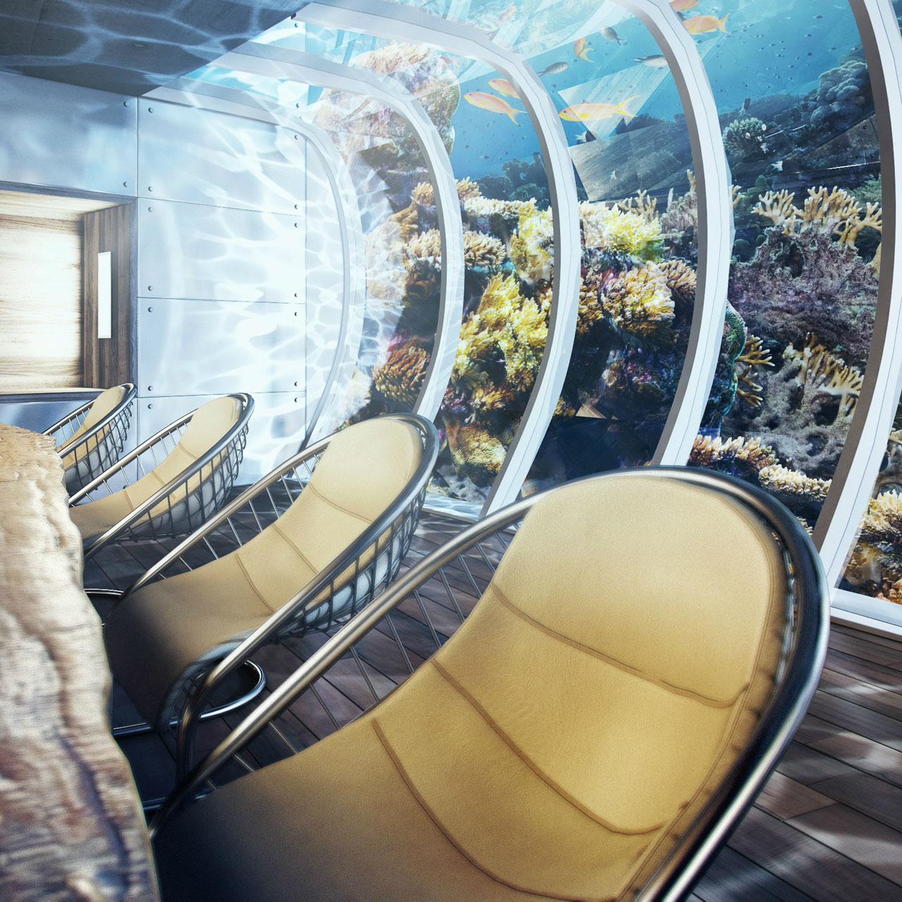 The Water Discus Underwater Hotel planned for Dubai (9)