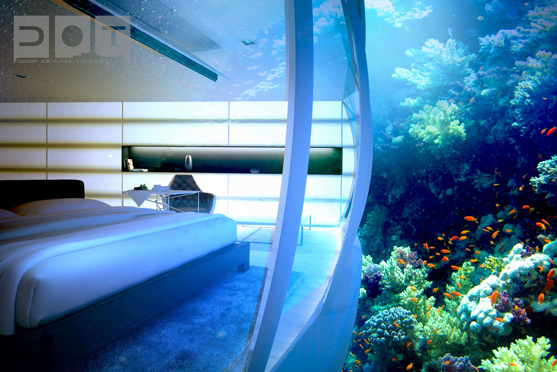 The Water Discus Underwater Hotel planned for Dubai (11)