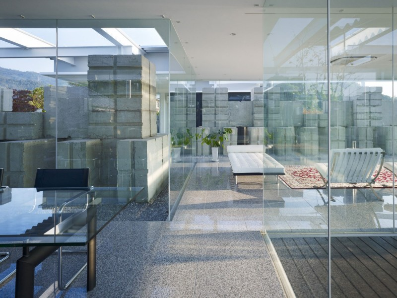 glass house interior design.  Glass House by NAF Architect and Design