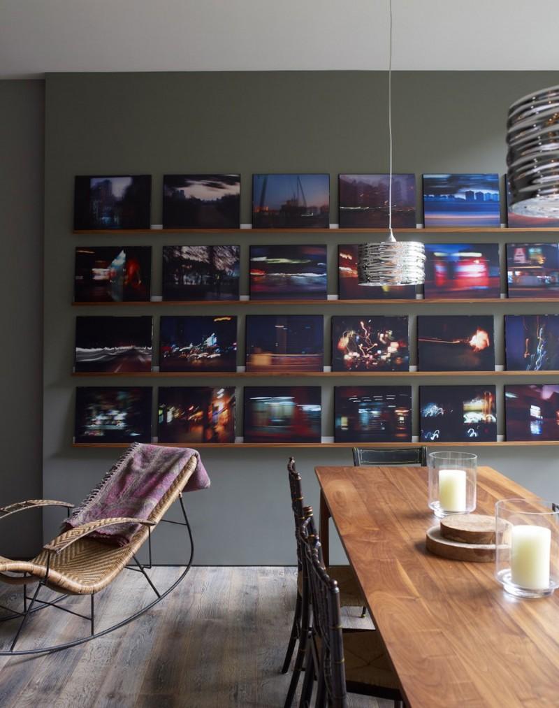 层板展示摄影作品