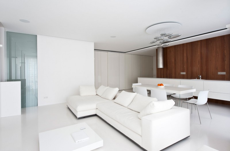 . Modern White Apartment Interior by Alexandra Fedorova