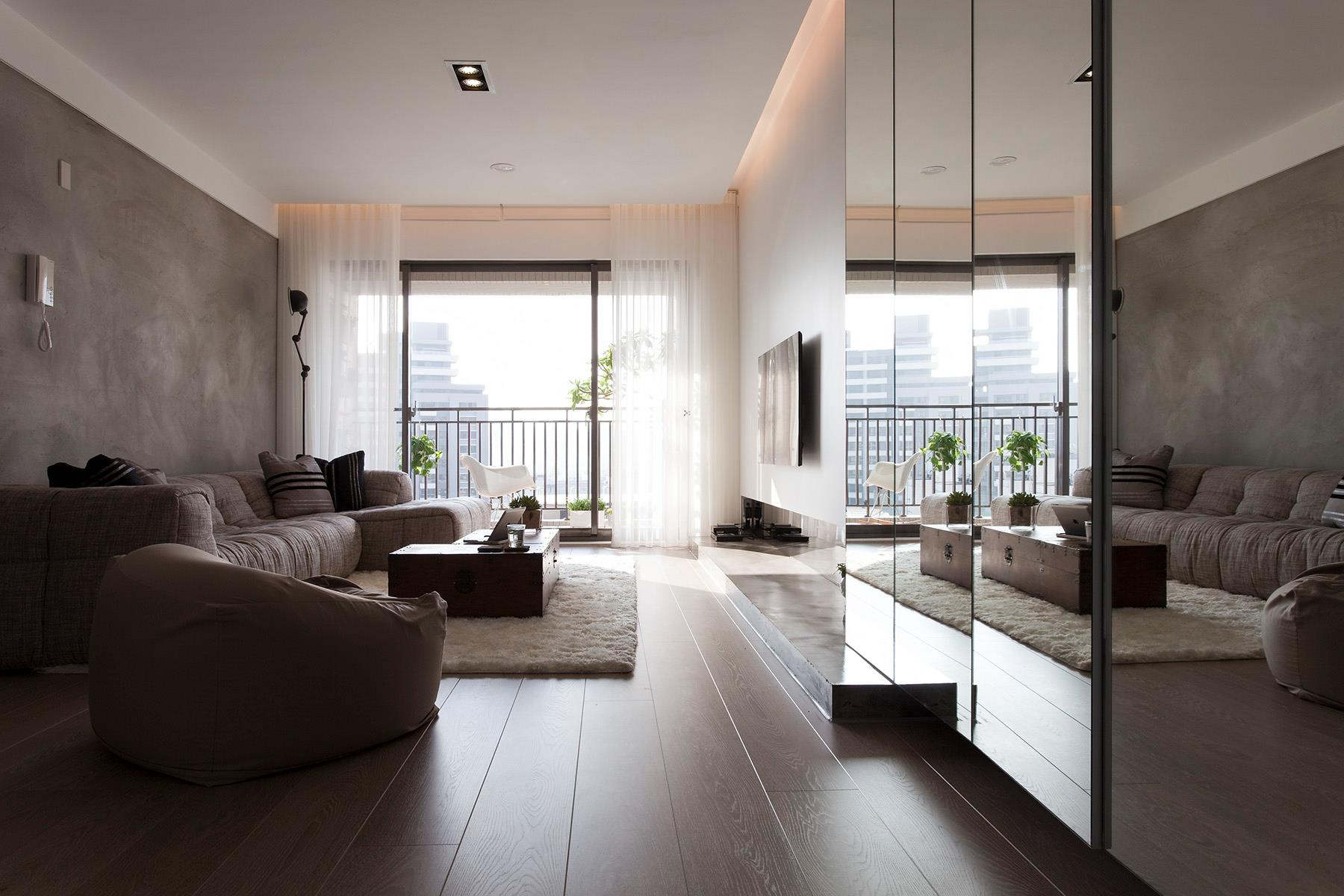 Contemporary apartment in taiwan by fertility design
