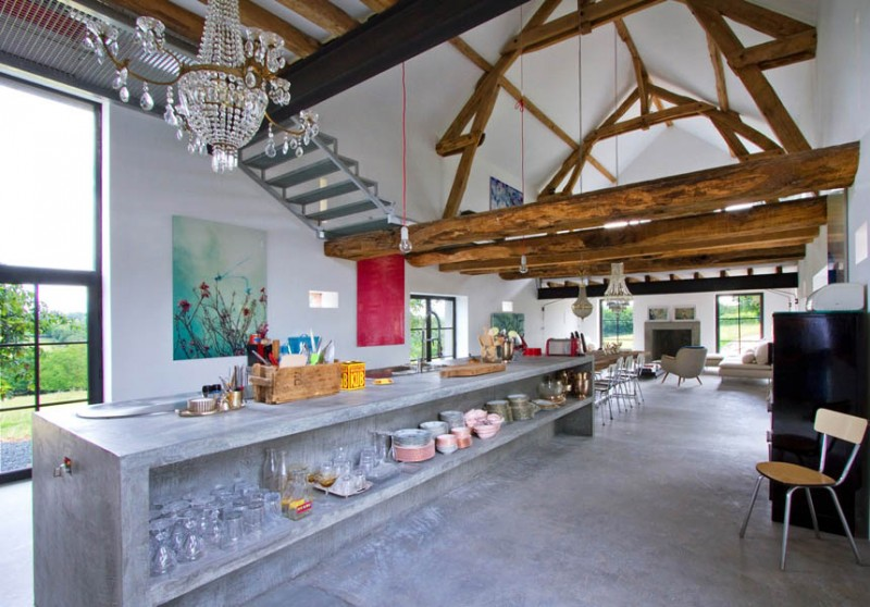 Inspiring Barn Conversion In Burgundy By Josephine Interior Design Stunning Barn Interior Design