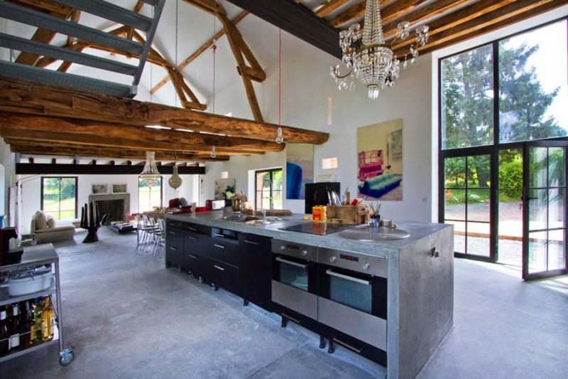 Inspiring Barn Conversion in Burgundy by Josephine Interior Design