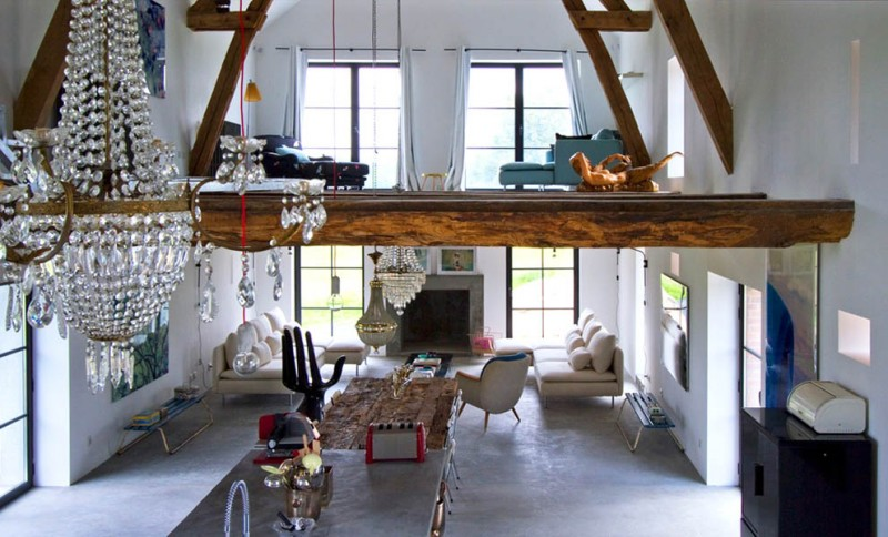 Inspiring Barn Conversion In Burgundy By Josephine Interior Design Custom Barn Interior Design