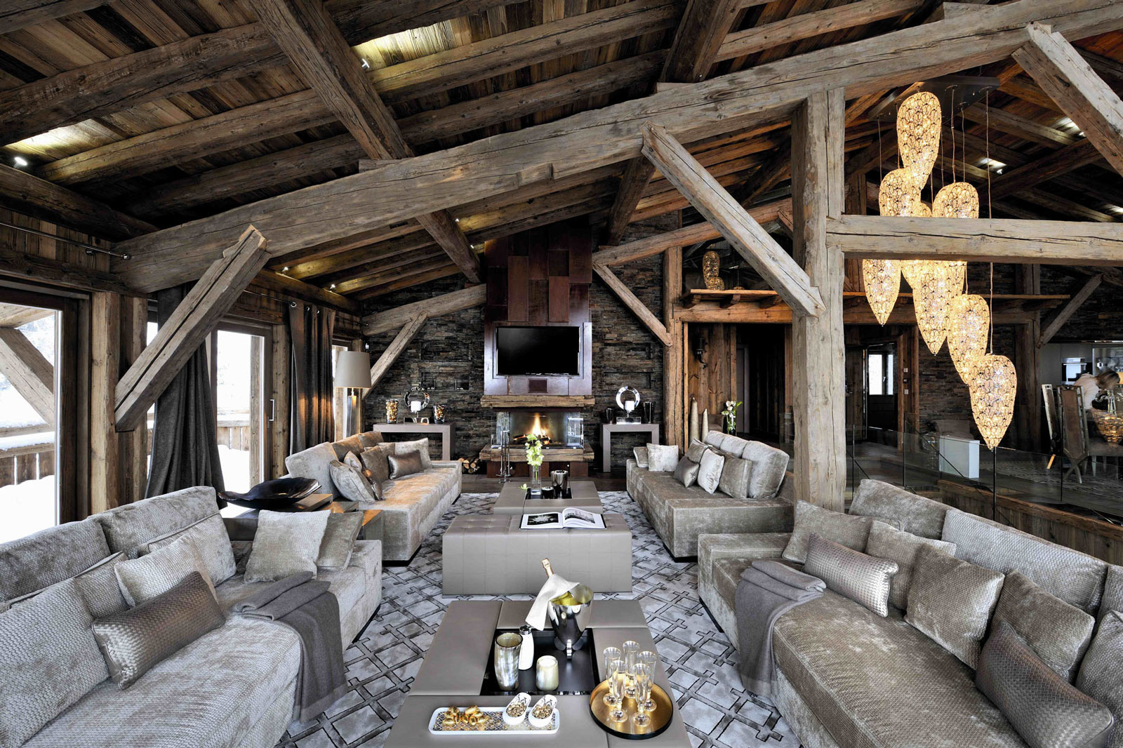 Ski Chalet Interior Design chalet brickell by pure concept