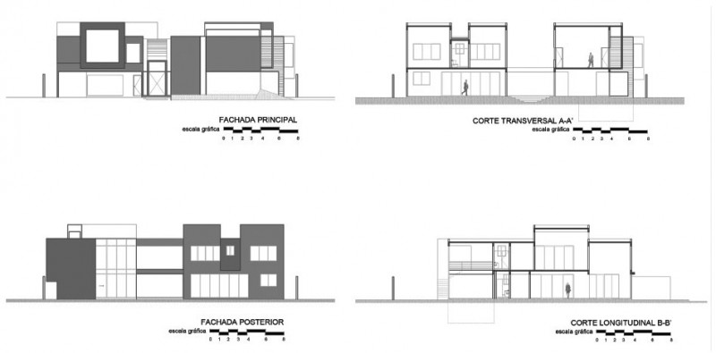 Plan Elevation En Anglais : The cubo house by arquitectura en movimiento