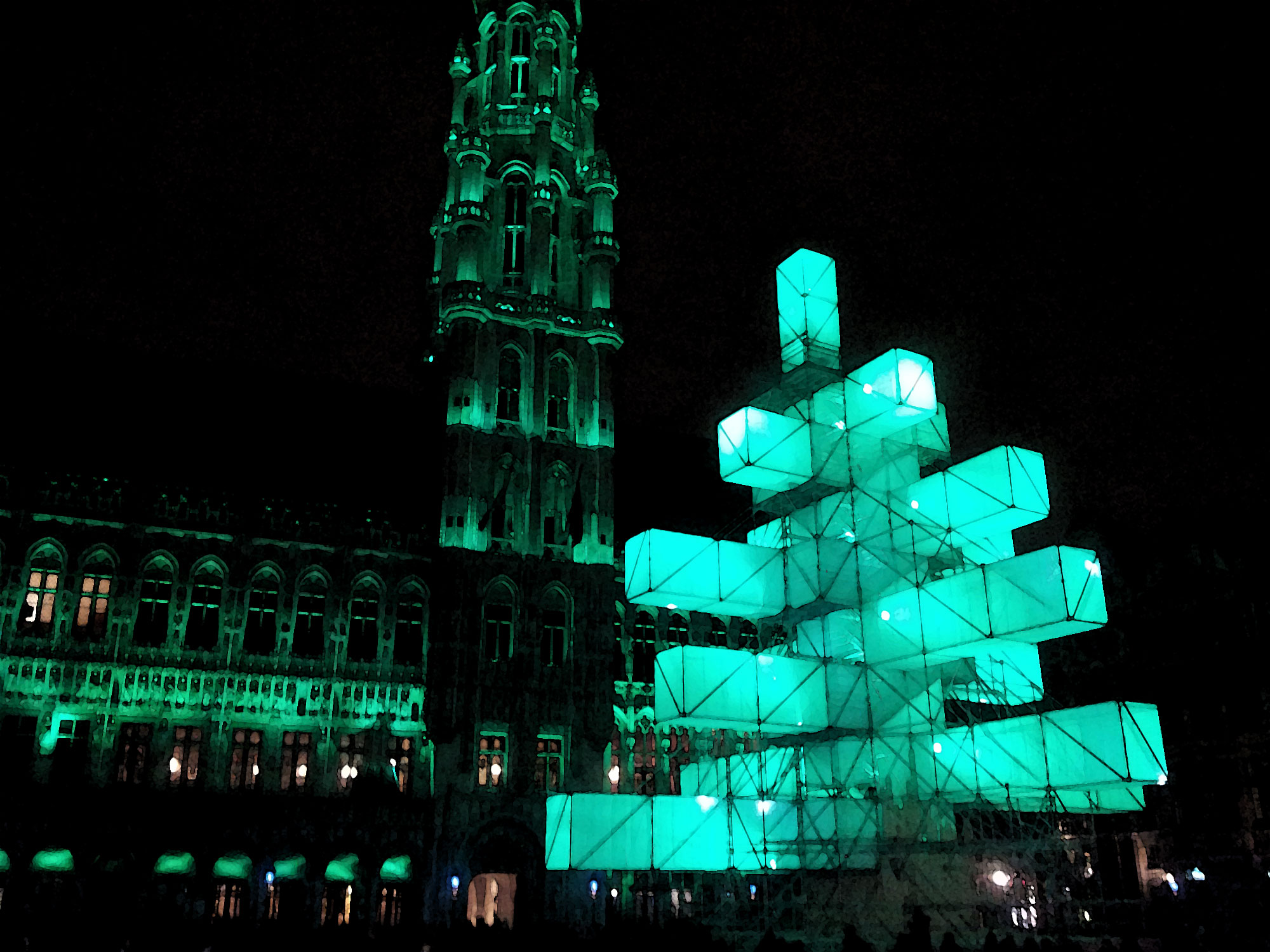 Christmas Tree 2.0 in Brussels