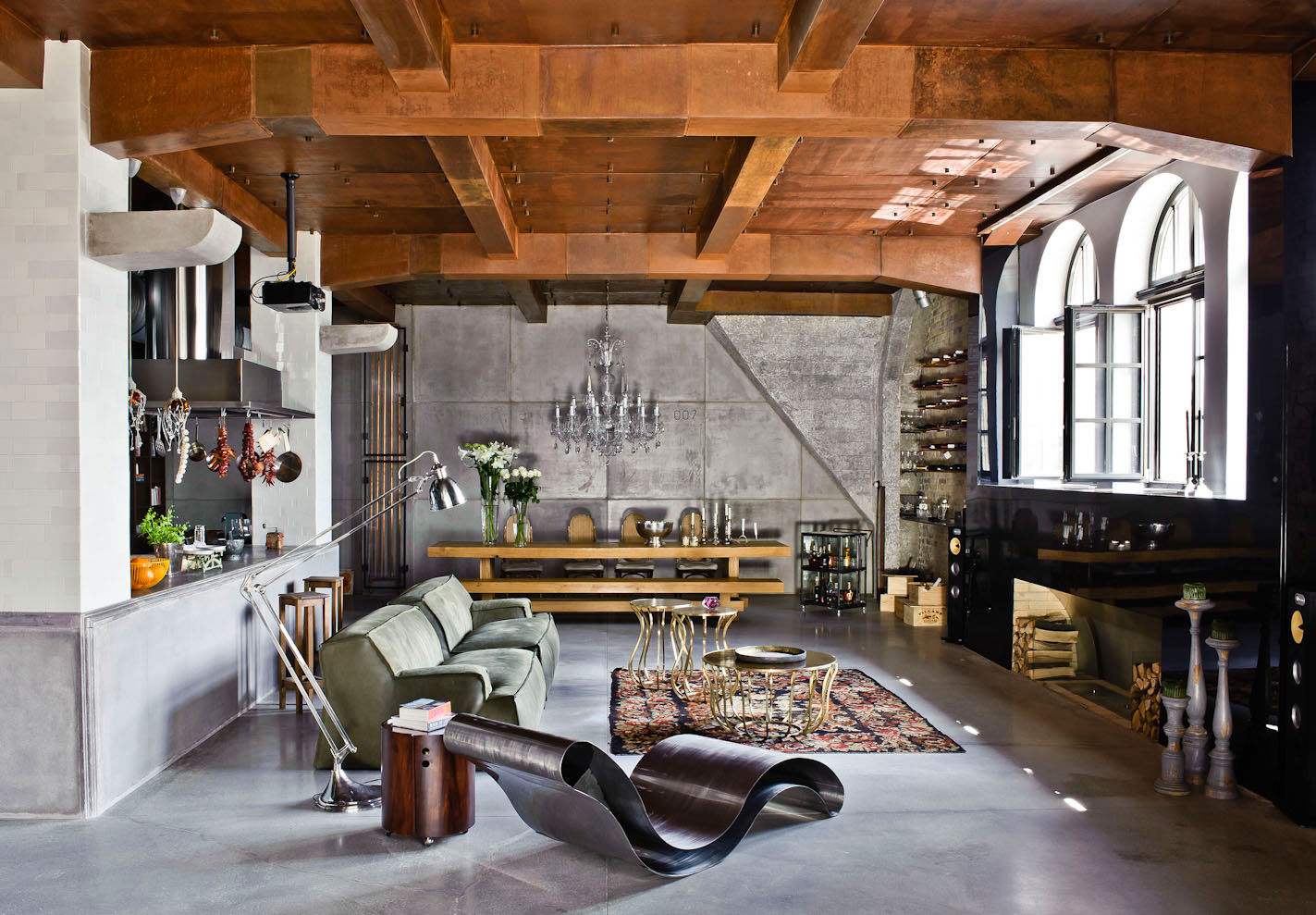 Superb Loft Living Ideas Part - 11: Eclectic Apartment In Budapest