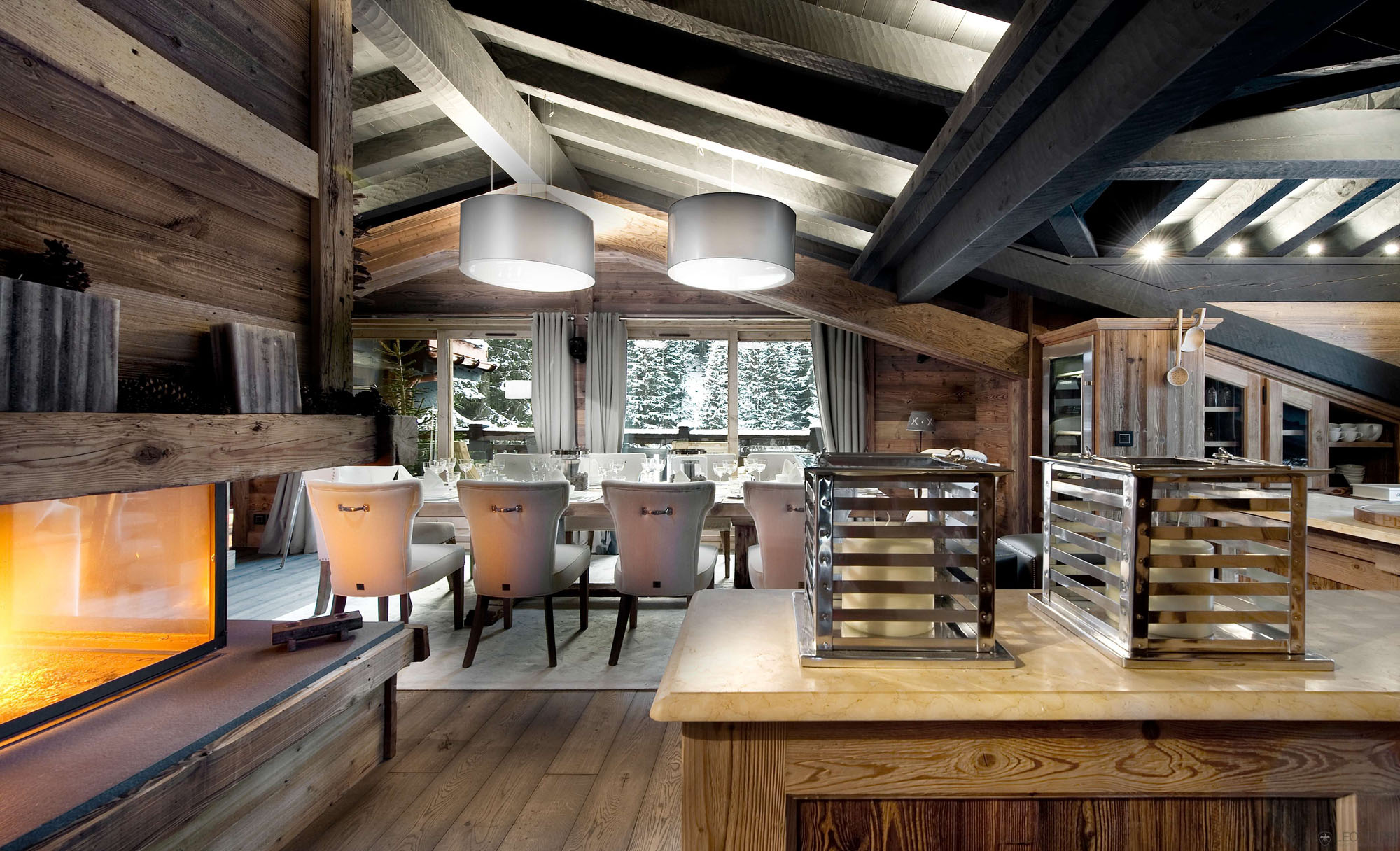 Ski Chalet Interior Design the petit chateau, a luxury ski chalet in courchevel