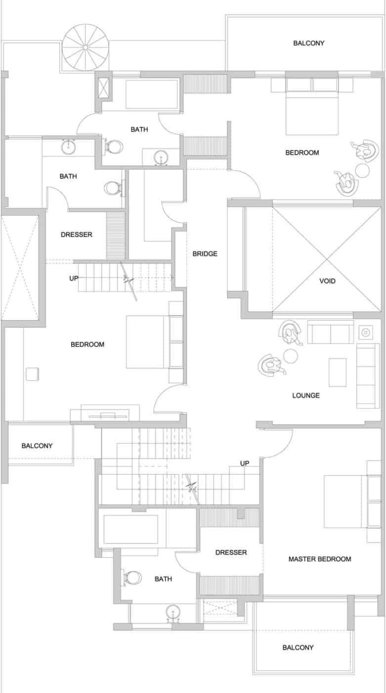 the overhang house by dada u0026 partners