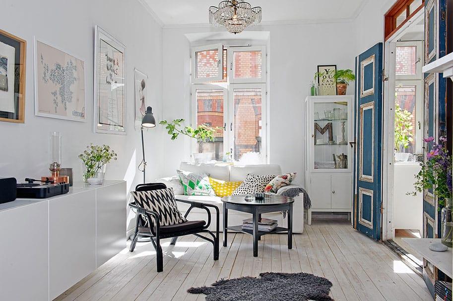 Scandinavian Design: Artistic Clutter in a 550-Square-Foot Apartment