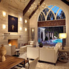 Pool House & Wine Cellar by Beckwith Interiors (1)
