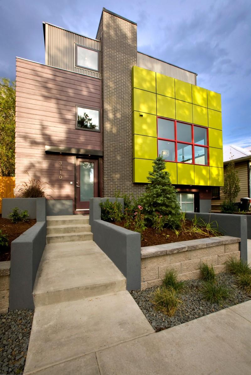 Green Cube Show Home by Heidi Mendoza