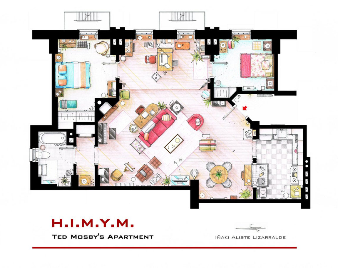 TV Home Floor Plans By Iñaki Aliste Lizarralde (18