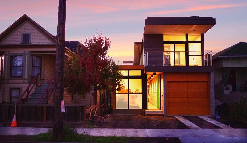 small modern kit homes net zero prefab prototype in emeryville by simpatico homes