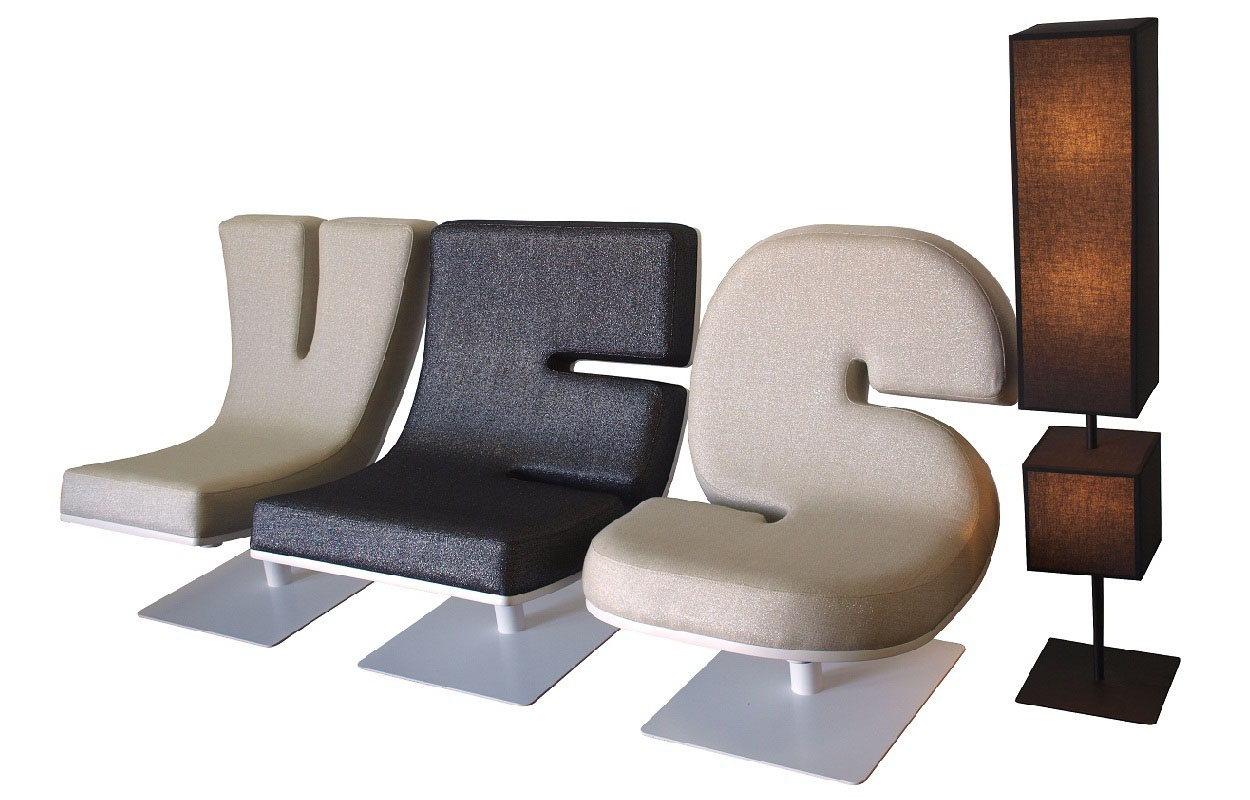 Creative Typographic Furniture By Tabisso