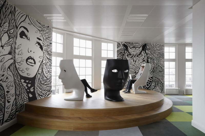 Jwt amsterdam office by koudenburg elsinga for Advertising agencies office interior design