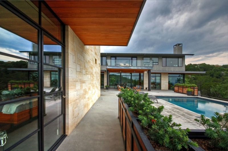 Hill country residence by cornerstone architects - Cornerstone church garden city ks ...
