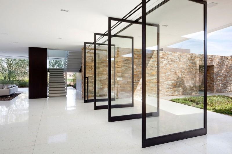 sliding glass door wall