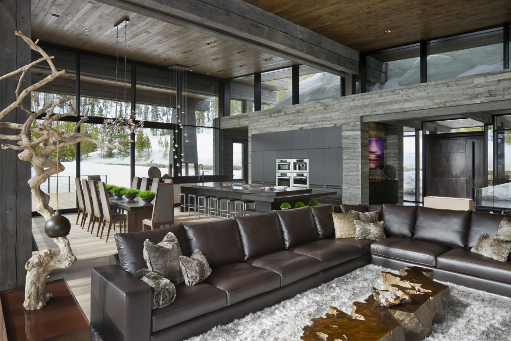 Lower Foxtail Residence by Reid Smith Achitects & Teton Heritage Builders