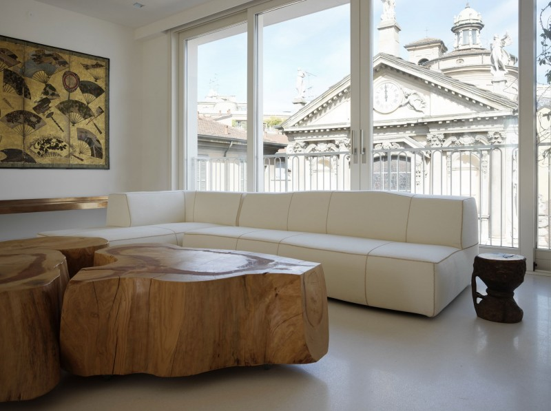 Tree Trunk Coffee Table at Home and Interior Design Ideas