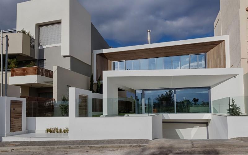 family house in gerakas by office twentyfive architects - Greek Modern Home Architecture Design