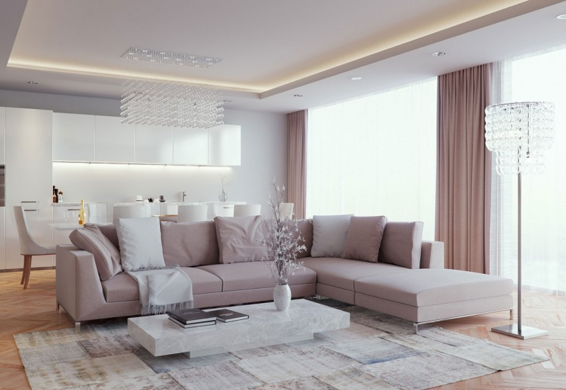 A Luxurious Living Room by Eduard Caliman