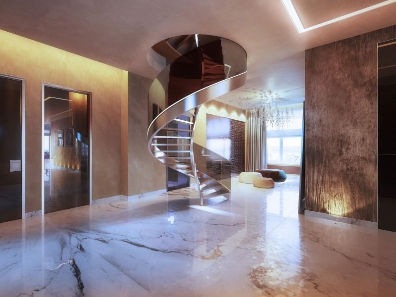 Penthouse on Gilyarovskogo Street by Oxana Yuryeva