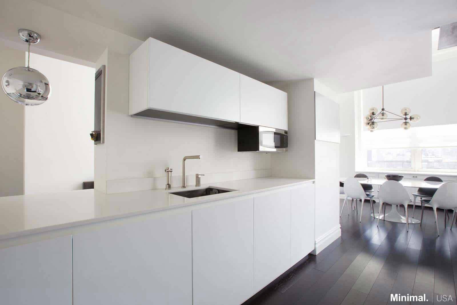 upper east side luxury apartment by minimal usa. Black Bedroom Furniture Sets. Home Design Ideas