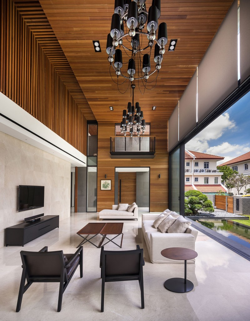 Mimosa road by park associates pte ltd for Techos por dentro