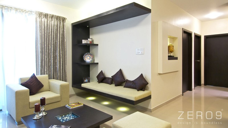 Apartment In Mumbai By Zero9 on small house living room design