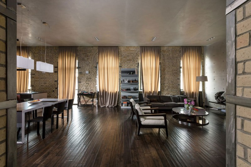 The Podil Loft Apartment by Sergey Makhno