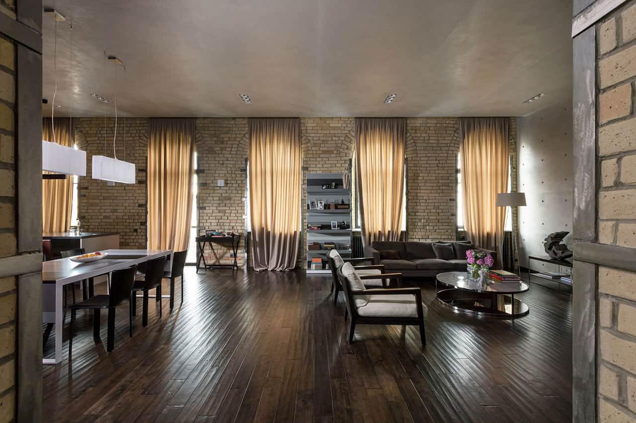 The Podil Loft Apartment by Sergey Makhno