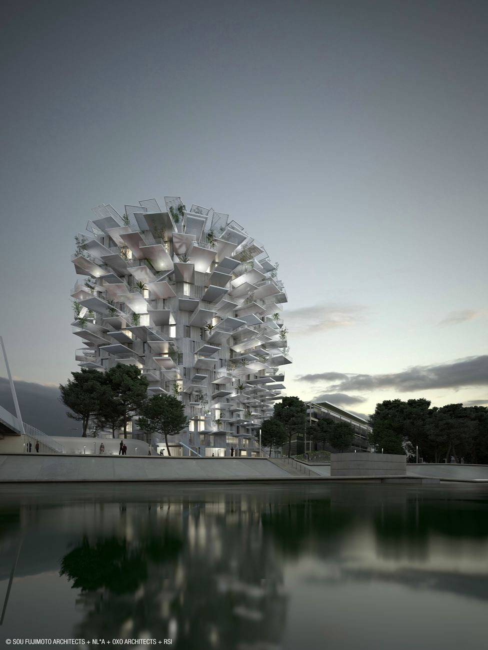 The White Tree by Sou Fujimoto Architects, Nicolas Laisné Associés and Manal Rachdi Oxo Architects