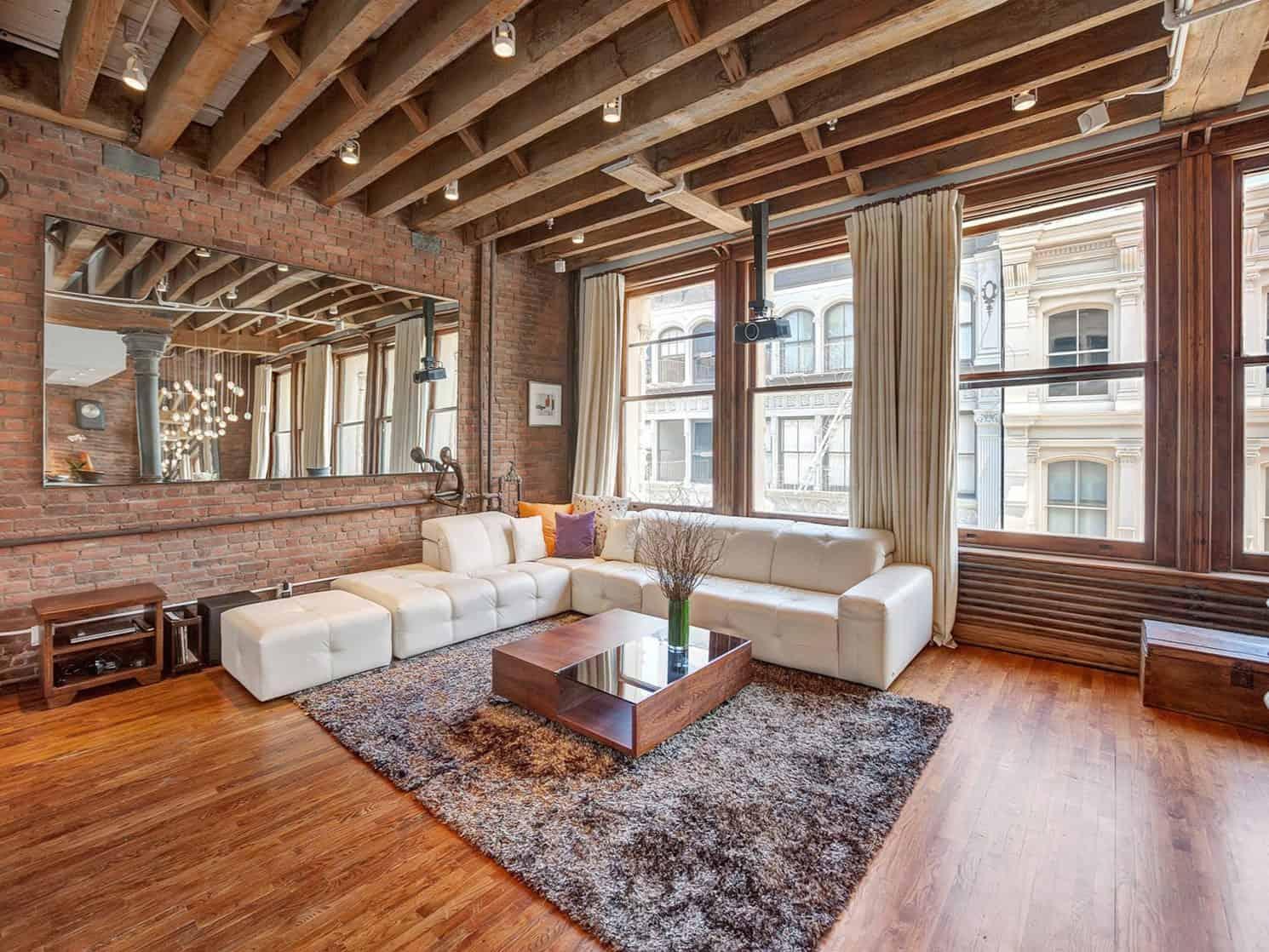 brick studio apartment. A Chic Apartment on Prince Street
