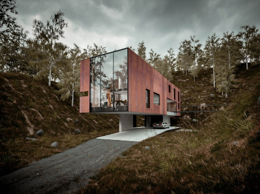 House for a Photographer by Hyde+Hyde Architects (1)