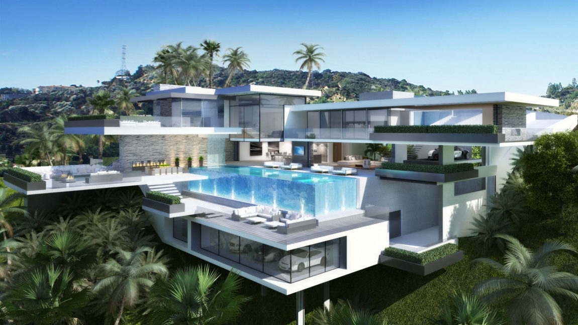 Two Modern Mansions on Sunset Plaza Drive in LA (7)