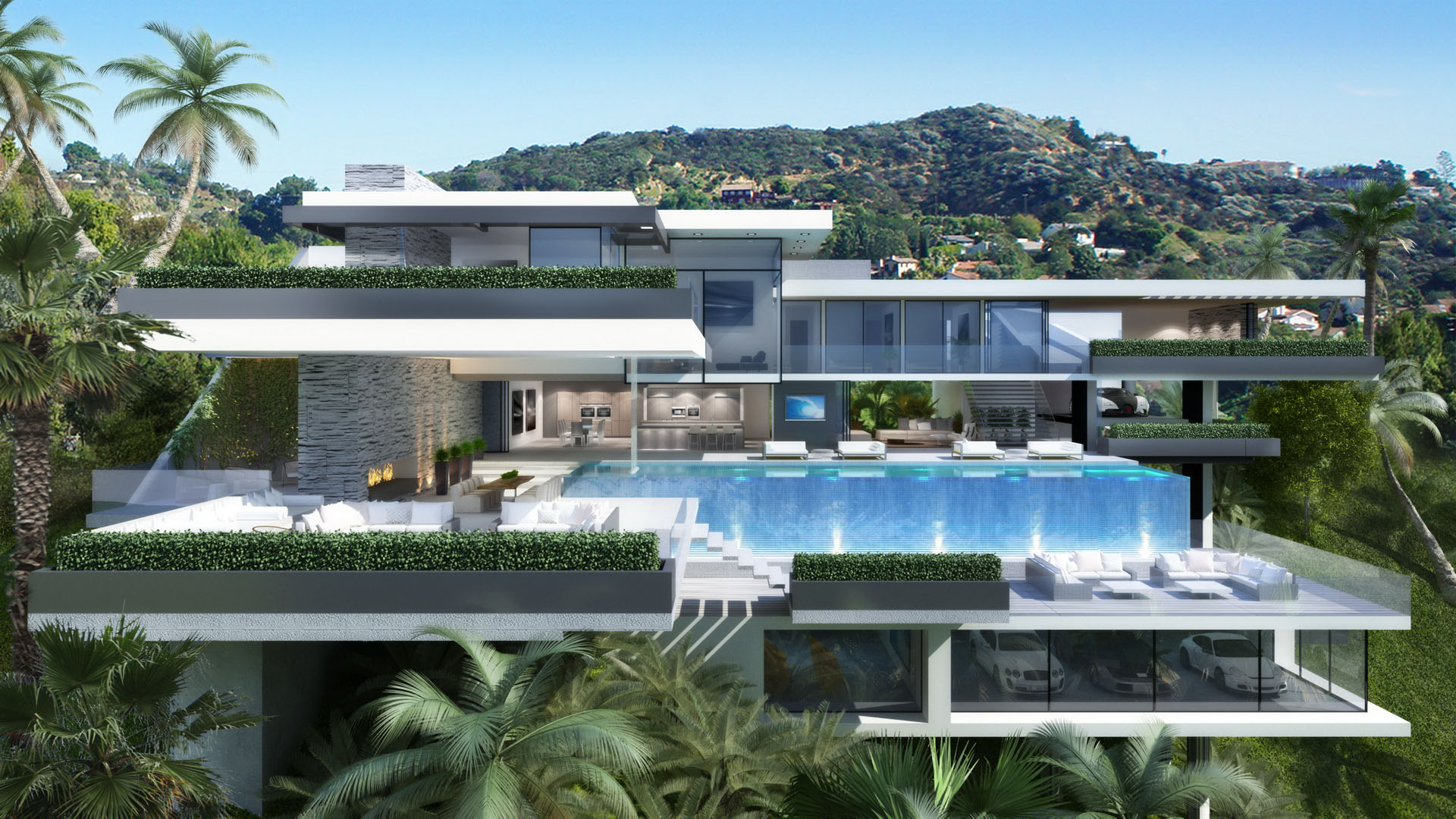 Two Modern Mansions on Sunset Plaza Drive in LA (8)