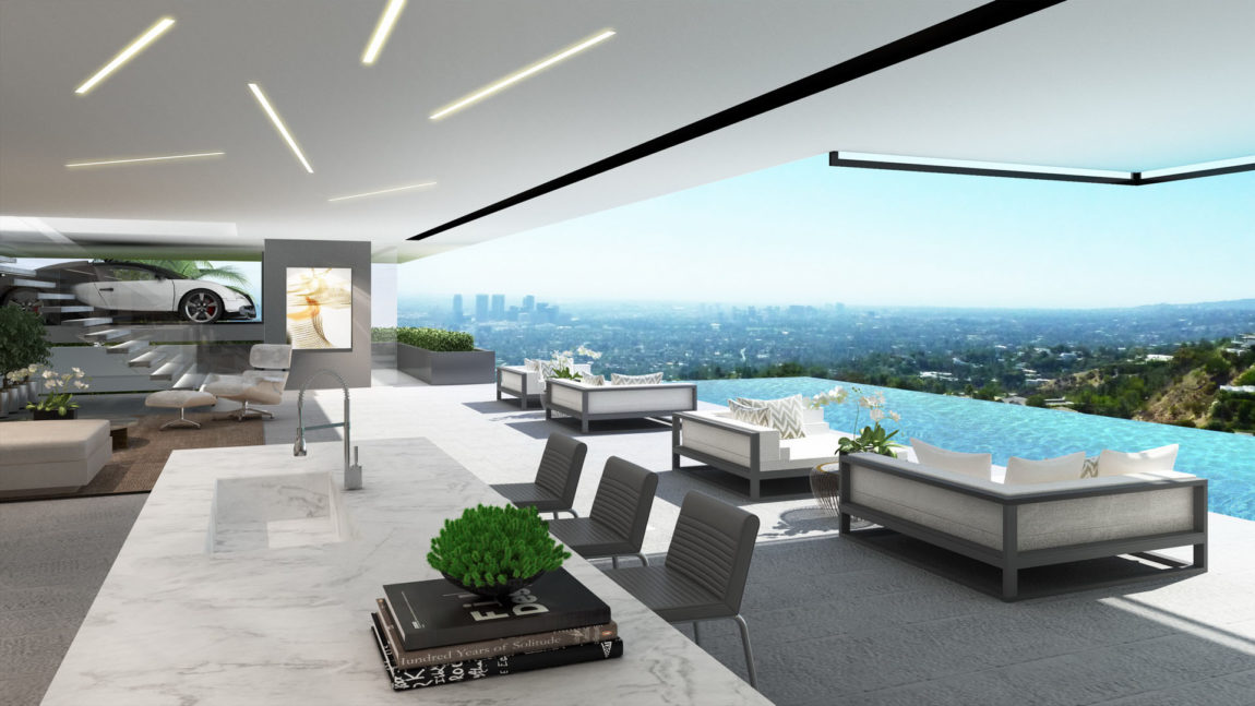 Two Modern Mansions on Sunset Plaza Drive in LA (11)