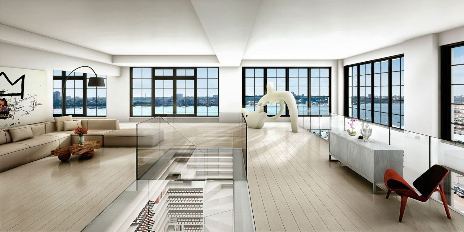 Ph1 A Unique New York Penthouse With Car Elevator And