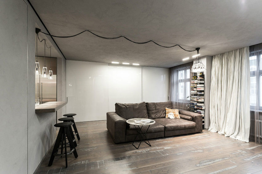 Studio Apartment in Moscow by Dina Mezhevova (2)