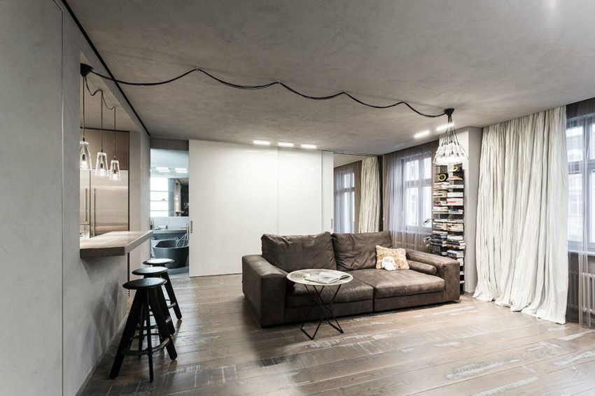 Studio Apartment in Moscow by Dina Mezhevova (3)