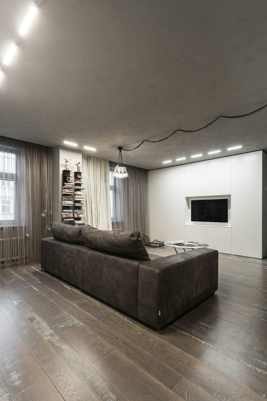Studio Apartment in Moscow by Dina Mezhevova (4)
