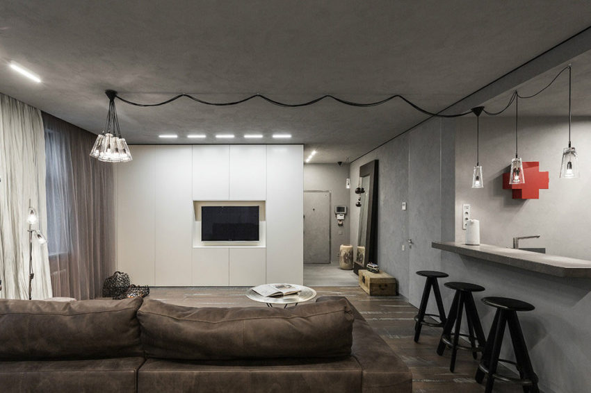 Studio Apartment in Moscow by Dina Mezhevova (5)