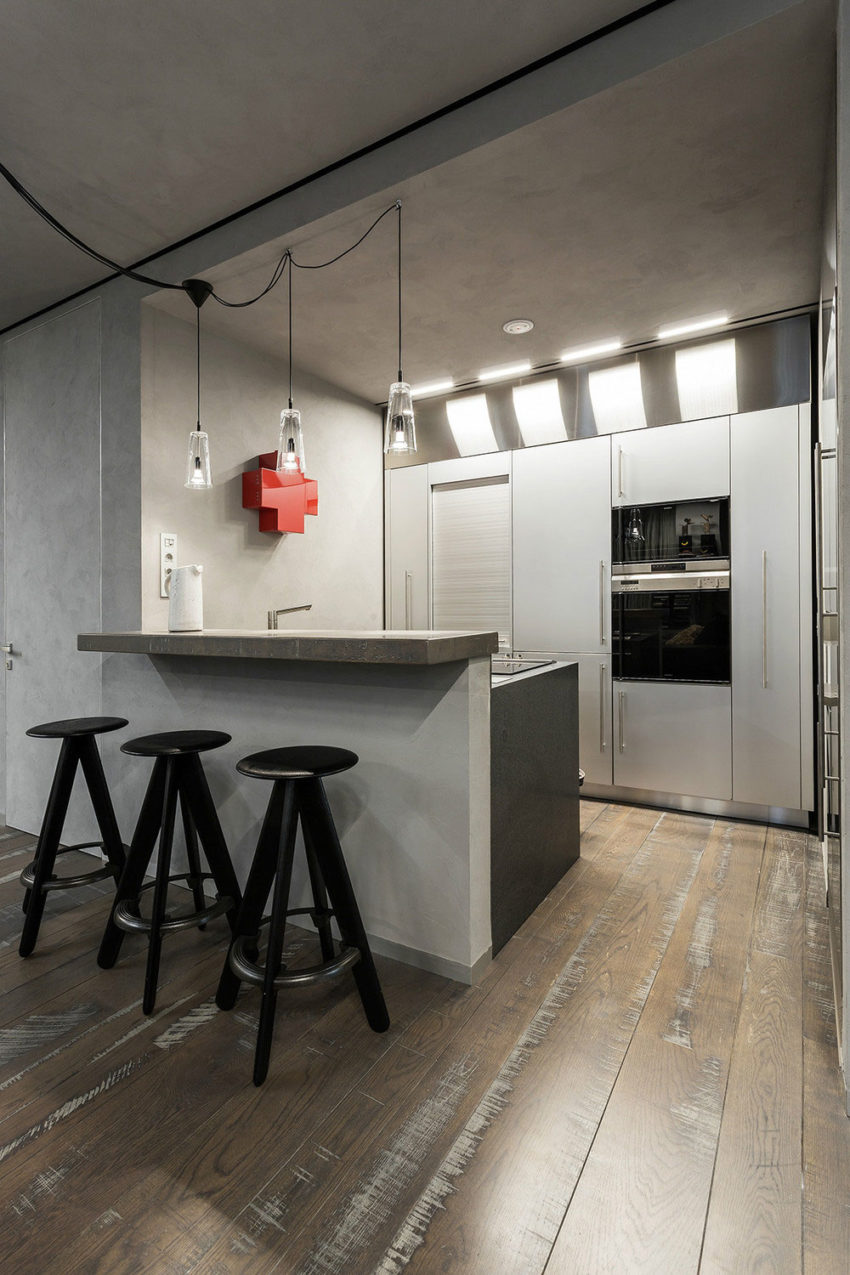Studio Apartment in Moscow by Dina Mezhevova (6)