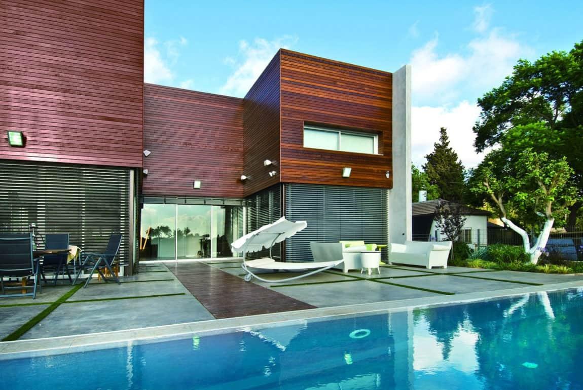 Wooden Concrete House by Nestor Sandbank (3)