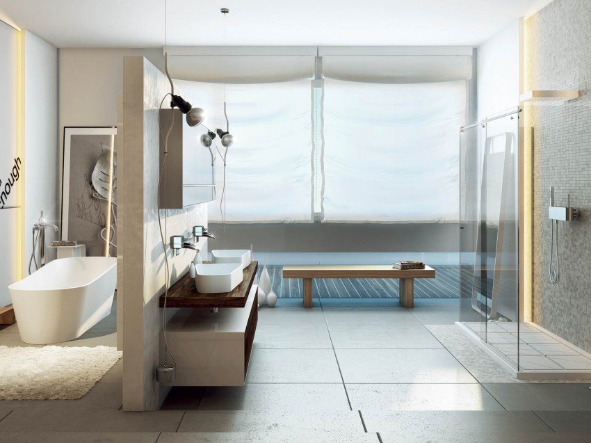 Modern bathrooms by moma design