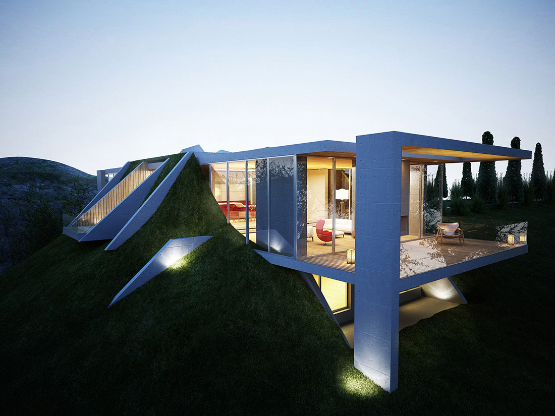 Earth House Project By Molos Group