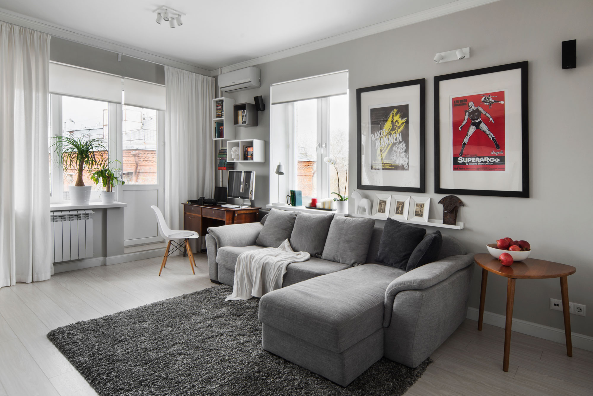 Compact Bachelor Haven in Moscow by M2 Project
